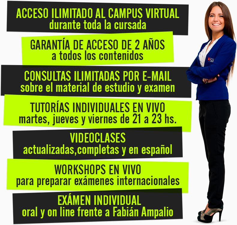 Auto es tudio - ON LINE - Campus virtual - Consultas y Tutorías INDIVIDUALES  EN VIVO - Consultas por e-mail.   Las tutorías en vivo -  Examen uno a uno con Fabián Ampalio, virtual.